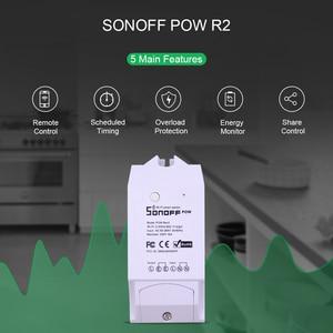 Image 5 - Itead Sonoff Pow R2 16A Wifi commutateur intelligent avec une plus grande précision moniteur consommation dénergie la mesure de puissance à domicile intelligente fonctionne avec Alexa