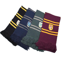 New Harri Potter Scarf Gryffindor Slytherin Hufflepuff Ravenclaw Scarf Costumes Gift Cosplay School Children College Scarf