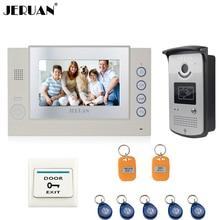 JERUAN 7 «TFT Видео-Телефон Двери Запись Домофон Система 700TVL водонепроницаемый RFID Доступа ИК Ночного видения Камеры 8 ГБ SD Карты