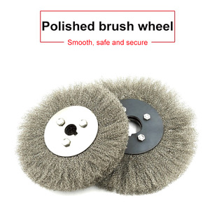 Image 2 - HOT 3 Pcs 100mm Stainless Steel Wire Polishing Brush Wheels Set with 16mm Hole Polished Derusting Tools TI99