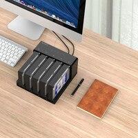 2/5 disk high speed mobile hard disk holder 2.5/3.5 inch base desktop sata serial hard disk box offline copy and copy machine
