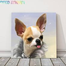 Diy Diamond Painting Sweet Chihuahua Full Round Mosaic Embroidery Dog Picture Decoration For Home Hobby Gift Family