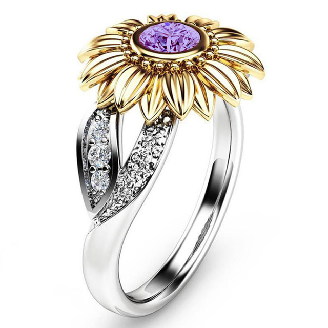 Couples Sunflower Ring