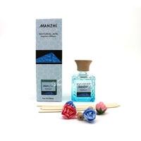 80ml Dried Flower Rattan Sticks Aroma Diffuser Lemon Greentea Sandalwood Lavender Scented Oil Reed Diffuser Fragrances For Rooms