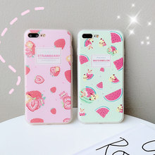 Soft TPU Cute Fruit Phone Case For iPhone 8 Plus XR XS X Xs Max 7 Cases 6S Strawberry