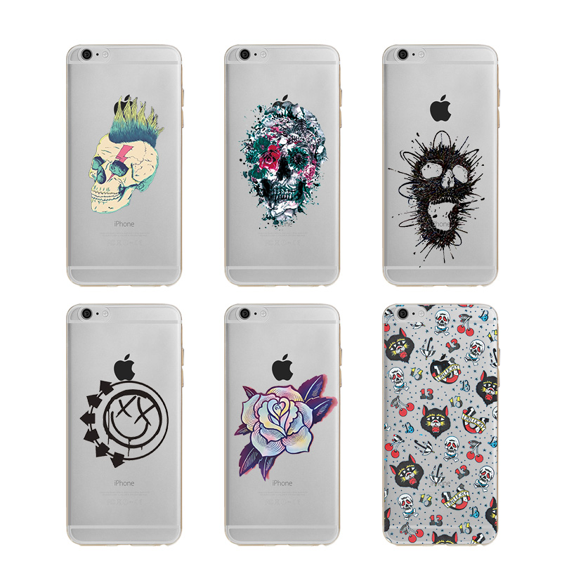 font b 2018 b font new style Punk Tattoo Soft TPU Silicone Case Cover For