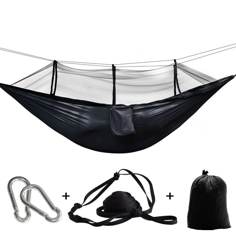 Ultraleve rede de insetos rede rede tenda mosquito ao ar livre quintal caminhadas mochila viagem acampamento duplo hamac rede hamaca hangmat