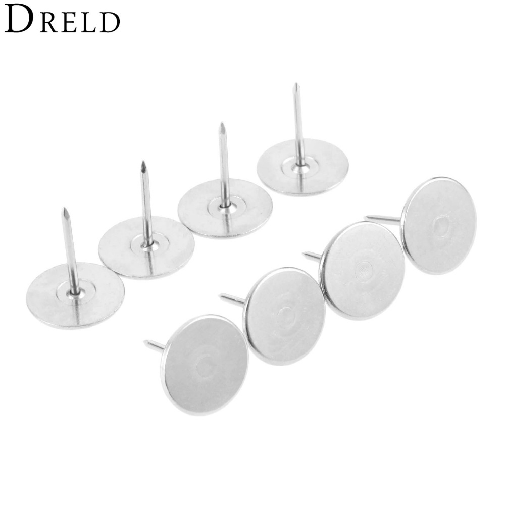DRELD 20Pcs Upholstery Decorative Nails Tacks Jewelry Gift Case Box Door Sofa Furniture Decorative Tachas Stud Pushpin 15x18MM