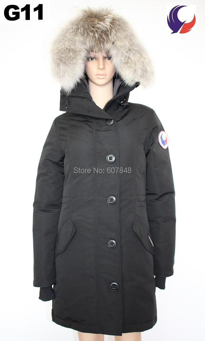 5d9e5c042 US $240.0 |2017 New Fashion Brand Women Winter Overcoat Rossclair Parka  Goose Down Feather Jacket Real Coyote Fur Collar for Lady G11-in Down Coats  ...