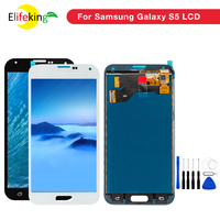 5PCS/Lot S5 Lcd Screen For Samsung Galaxy S5 G900 G900F G900I G900M Full Test working Touch Screen Lcd Display repair parts