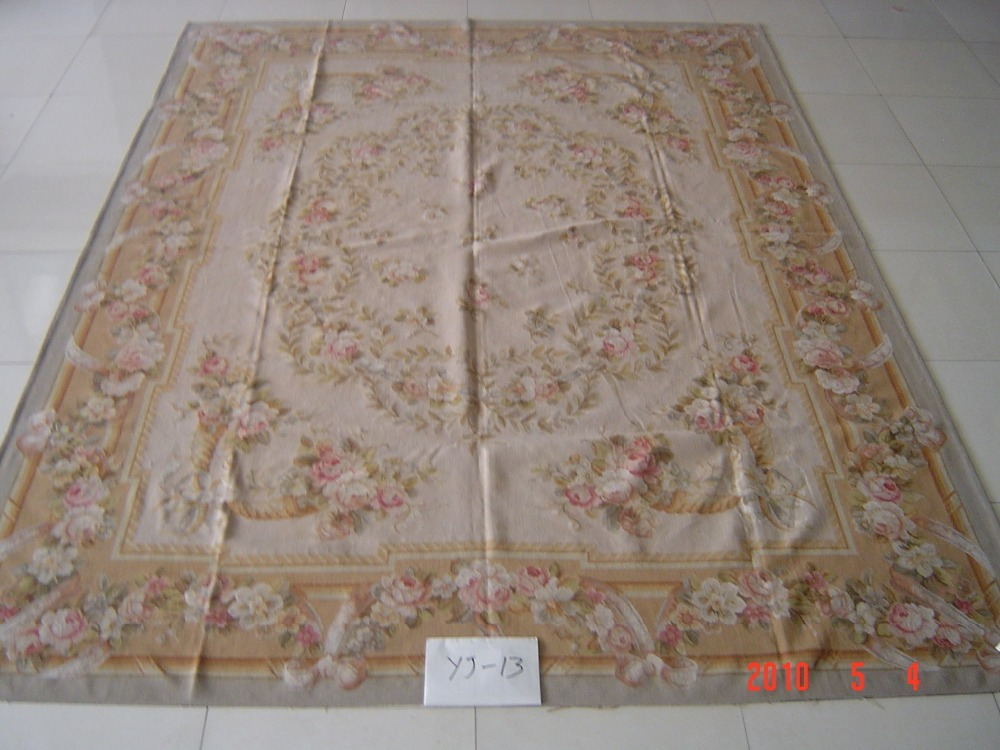 Free shipping  9x12 Stunning French style aubusson carpets hand knottedrugsFree shipping  9x12 Stunning French style aubusson carpets hand knottedrugs
