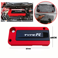 Brand New Car Red Engine Plate Cover Bonnet Soundproof Type R For Honda 2016 2017 10th Civic FC1
