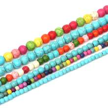 Pick Size 4mm/6mm/8mm Calaite Howlite Round Beads Synthetise Dyed Stone Beads 15'' For DIY Bracelets Jewelry Making Findings(China)