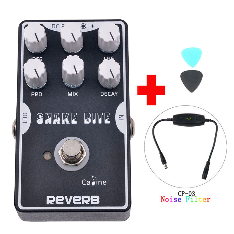 Caline CP-26 Reverb Guitar Effect Pedal Reverb Guitar Black Color Guitar Accessories With True Bypass and Caline Noise Filter caline cp 15 heavy metal guitar pedals 3 band powerful adjustable electronic heavy metal guitar effect pedal