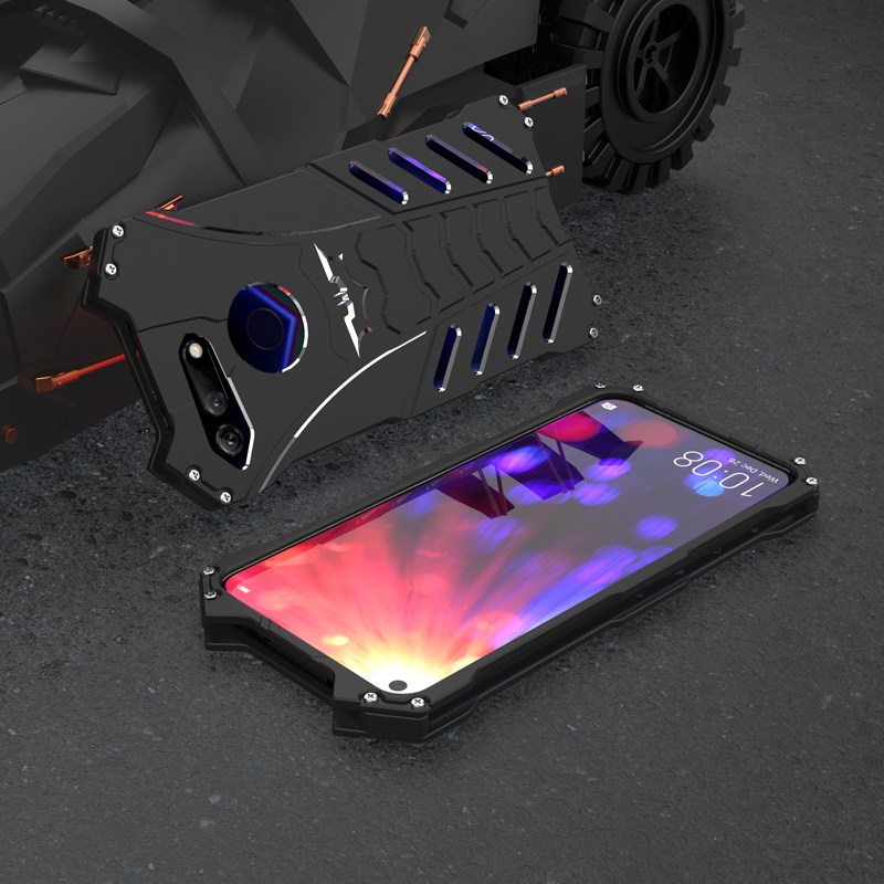 Aluminum Metal Case For Huawei Honor View 20 Back Cover Luxury Hard Shockproof Bumper Ca ...