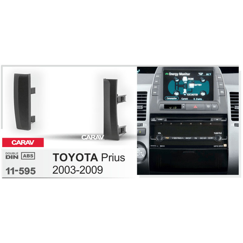 carav 11 595 car radio fascia panel for toyota prius 2003. Black Bedroom Furniture Sets. Home Design Ideas