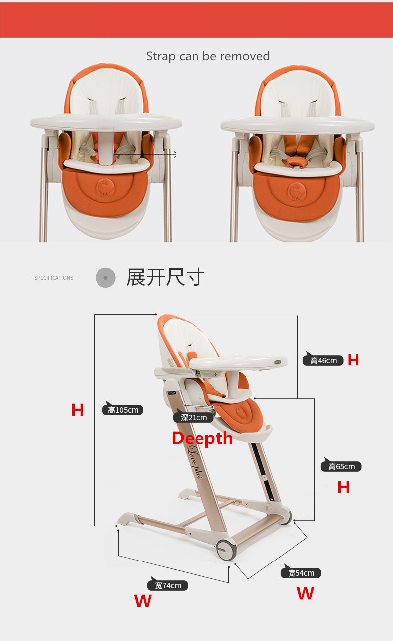 Baby Food Chair Us 247 71 31 Off High Quality Export Aluminium Frame Baby Feeding Chair Food Tray Included Booster Newborn Seat Can Sleep Baby High Chair In Booster
