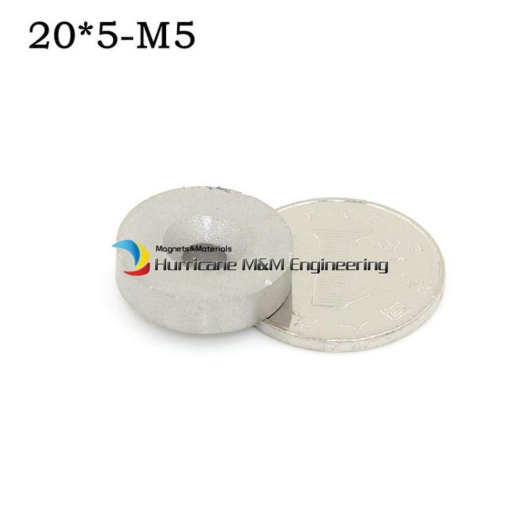 1 блок smco Магнит диск диам. 20х5 мм М5 с потайной отверстие класс YXG24H 350 градусов C рабочая темп. Постоянных Редкоземельных Магнитов
