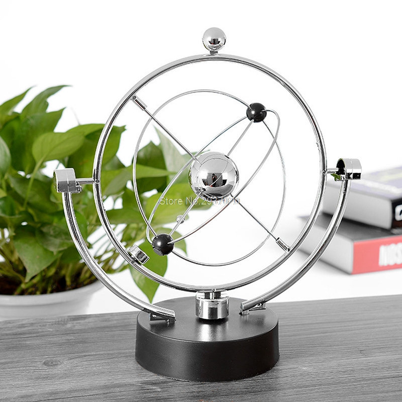 Kinetic Orbital Revolving Gadget Perpetual Motion Desk Office Decor Art Toy Gift Desk Set