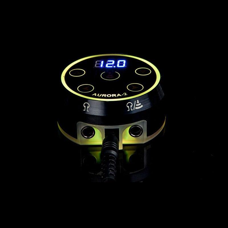 Neue Professional Mini AURORA II mit ICH LCD Tattoo Netzteil mit Power Adapter für Spule & Rotary Tattoo Maschinen