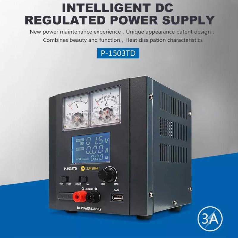 P 1503TD 15V 3A Intelligent DC Regulated Power Supply