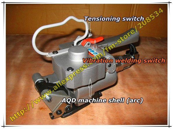 Wholesale-- (Tension:>=3500N) AQD-19 Portable Pneumatic PET&PP hand strapping tool/Plastic strapping welding machine for 13-19mm  цены