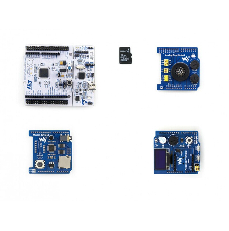 NUCLEO-L152RE Package B = NUCLEO-L152RE+ Accessory Shield +Analog Test Shield +Music Shield Free shipping