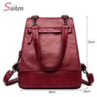 New Women Multifunction Backpacks High Quality Youth Leather Backpacks for Teenage Girls Female Casual Shoulder Bag Women's Bags