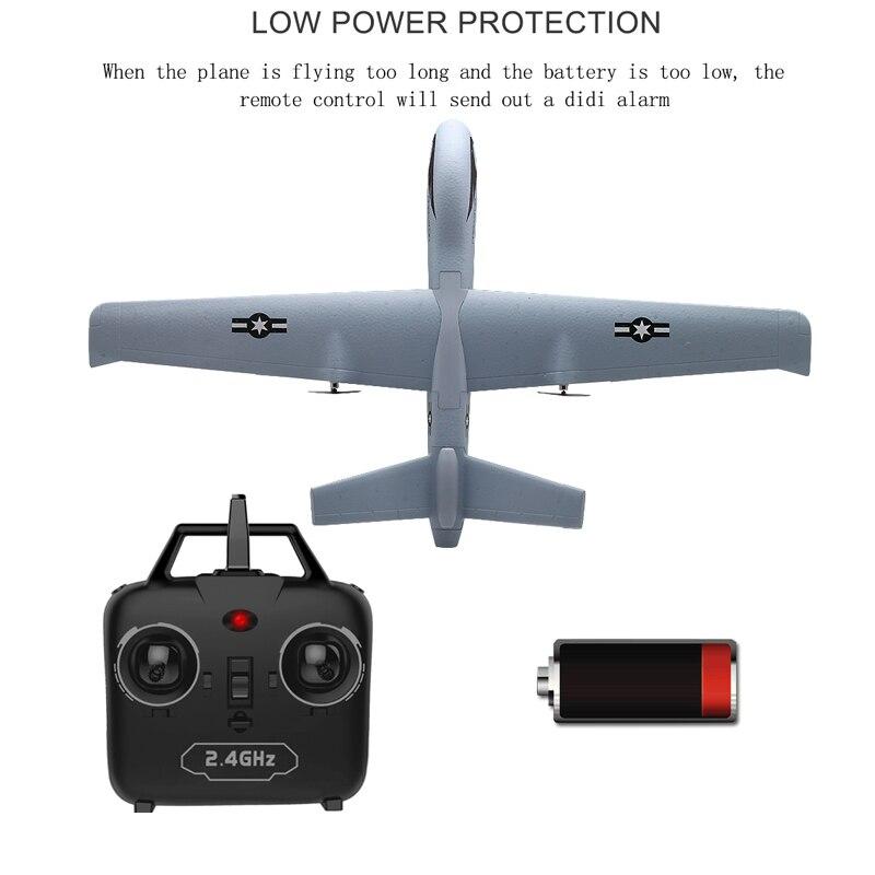 Avion RC 20 Minutes temps de vol planeur jouet avion avec LED 2.4G télécommande main lancer envergure enfants RC Jet avion mousse 3