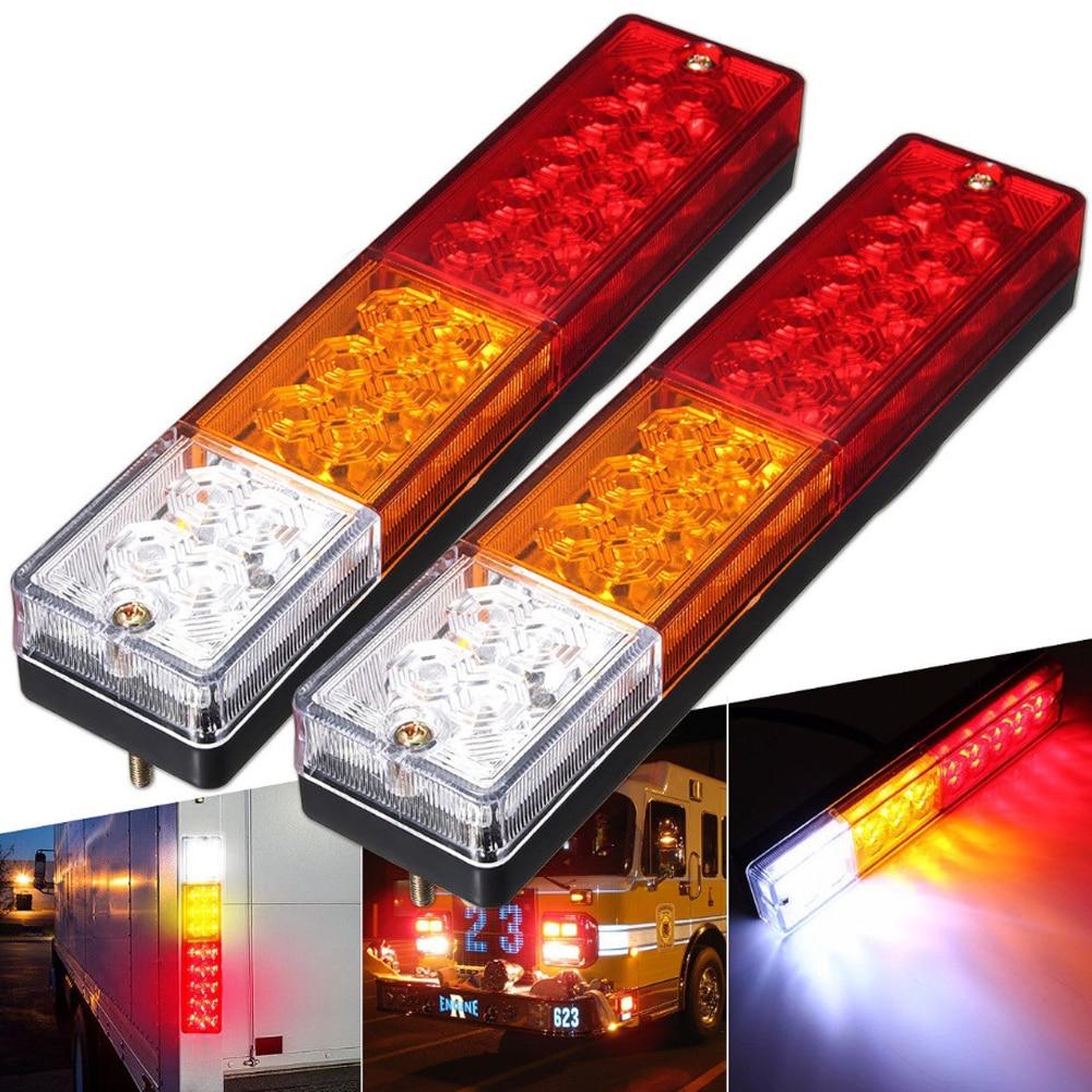 20 x 24v Led White Rear Side Marker Light Lamp Truck Trailer Lorry Waterproof x6