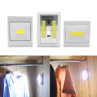 SOLOLANDOR Magnetic LED Cabinet Light with Switch Wireless Wardrobe Nightlight Cupboard Closet Lamp for Bedroom Kitchen Lighting