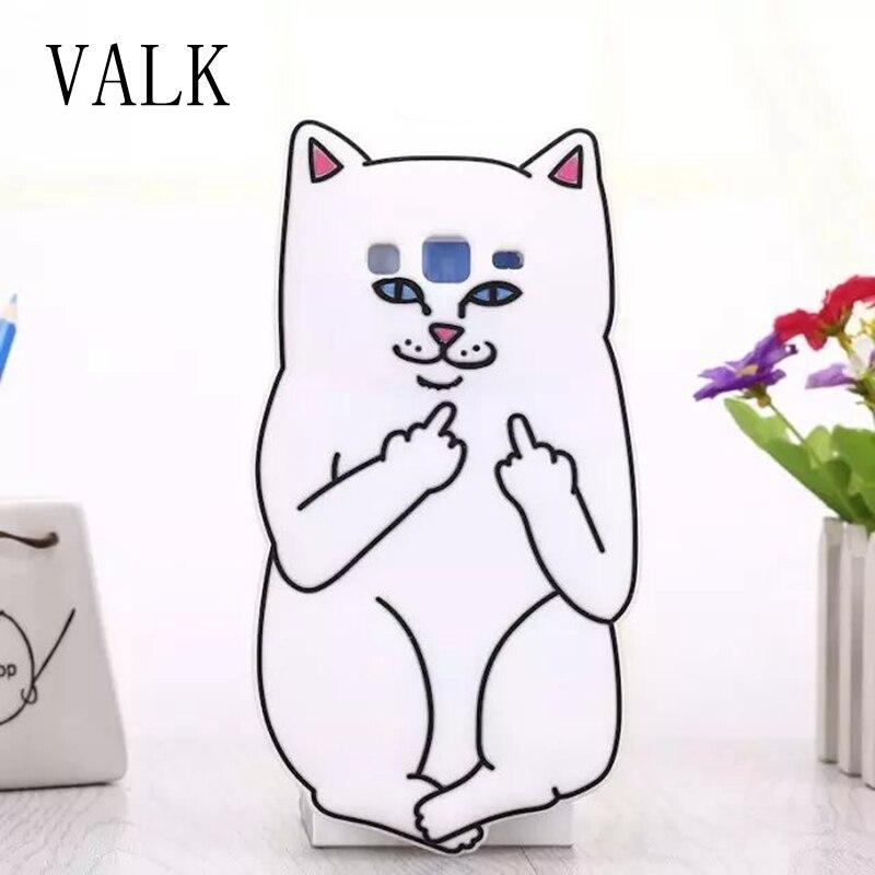 VALK 3D Silicon Pocket Cat Cartoon Soft Phone Back Case Cover for Samsung Galaxy Grand Prime G530 i9082 G360 S3 J1 J3 J5 J7 2016
