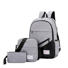 VASSARETTE Women Cute Backpack Canvas Laptop 15.6 17 Inch For Men School Bag Female Male Travel Bags