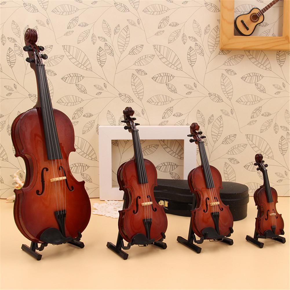 Model Noneature Classical None Replica Decoration Display None Musical Instrument Ornaments with Stand Case in Violin from Sports Entertainment