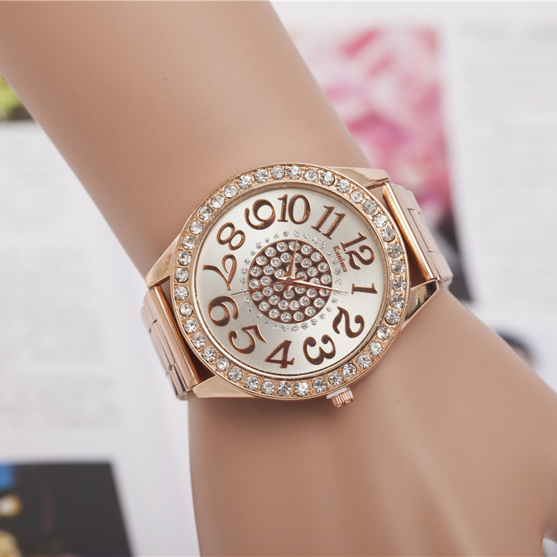 Drop Price Fashion Sunflower Pattern Diamond Watches Steel Watch Men And Women Quartz Watch Three Color Can Be Selected 2020 New