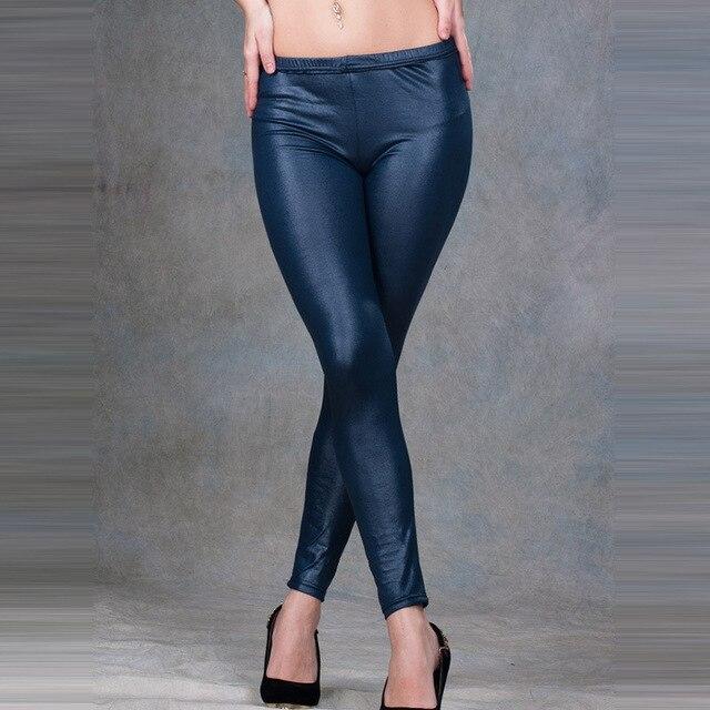Новое поступление свет тонкий ноги PU искусственная кожа мягкая брюки женские леггинсы мода свободного покроя брюки