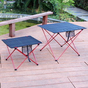 Image 2 - Outdoor Table Portable Foldable Camping Furniture Computer Tables Picnic Size S L 6061 Al Light Color Anti Slip Folding Desk