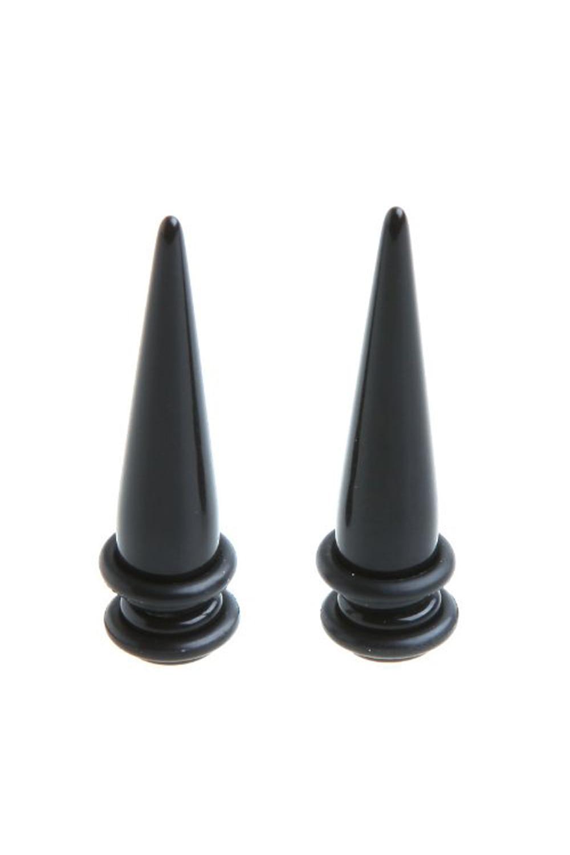 1 Paar Zwarte Magnetische Fake Cheater Oor Expander Taper Plug Brancard (2g 6mm)