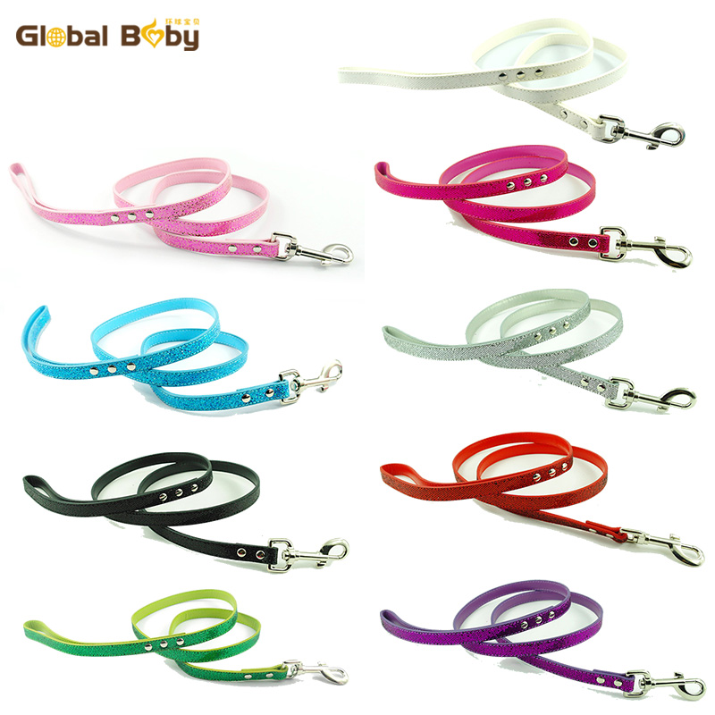 New Global Baby Brand Bling Leather Dogs Pets Puppy Leashes Lead ...