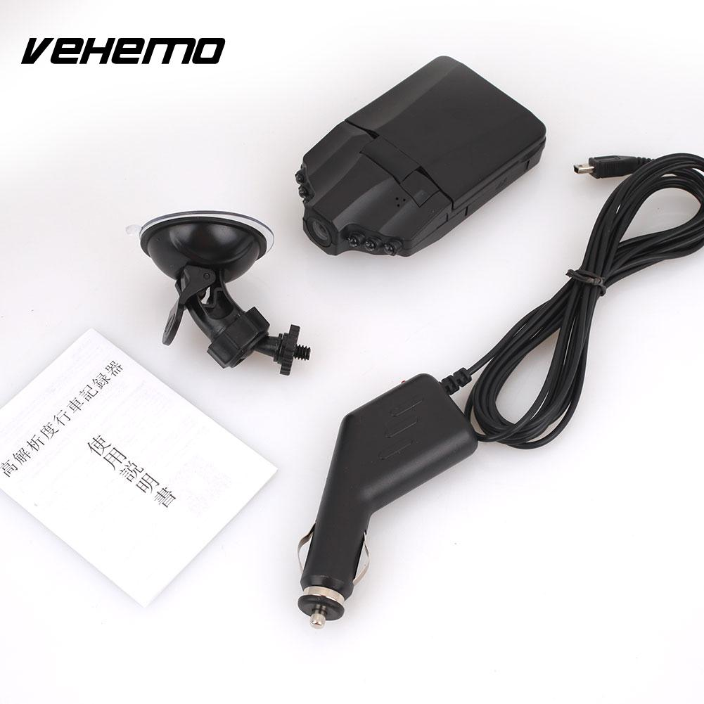 Vehemo Driving Recorder Dash Cam Car DVR HD1080P 2.5inch Durable Night Vision Automobile Car Camera G-Gensor