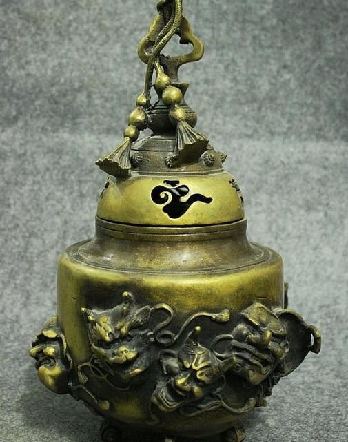 free shipping 13 old china bronze temple japan devil buddha head