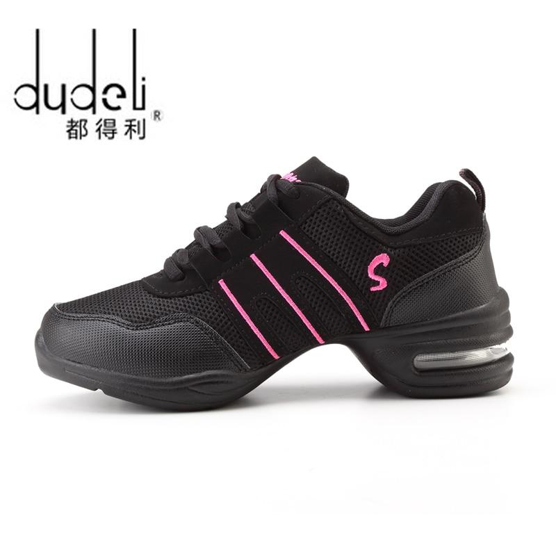 2018 sportowy cecha miękki podeszwa oddech taniec buty sneakers for Woman praktyka buty Modern Dance Jazz wiosna Sneaker Darmowy prezent