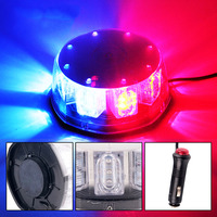 WTS DC12V super bright blue auto led strobe lights beacon with ambulance car flash lamp red and blue for police warning