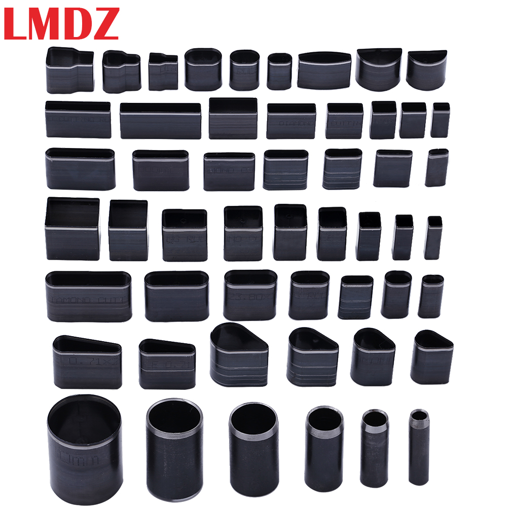 LMDZ 52Pcs Shaped Style Hole Hollow Punch Cutter Set Punching Tool For Leather Belt Phone Holster Leather Craft DIY Tool