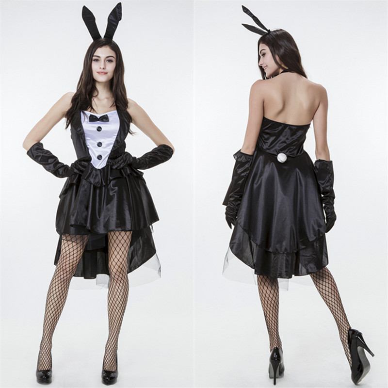 2016 new Bunny Girl Rabbit Costumes Halloween party sexy adult women Animal Costume Fancy Dress Plus Size