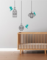 Bird Cages Pattern Wall Decal Flying Birds Livingroom Vinyl Wall Stickers Removable Modern Home Decor Special
