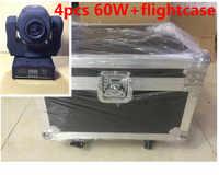 4 pz 60 W DMX stage lights + flightcase LED Spot Moving Head Light/USA Luminums 60 W LED DJ Spot Light