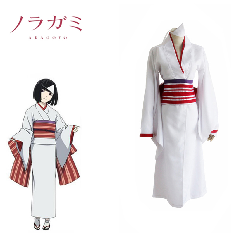 Nora Kimono Cosplay Noragami CostumeFancy Clothing Costume With Bow Girdle Hair Accessory Popular Women Adults Costume