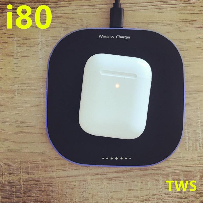 I80 TWS Pop up 1:1 PK w1 h1 puce i30 i20 i12 i10 i60 tws écouteurs sans fil charge Bluetooth écouteurs