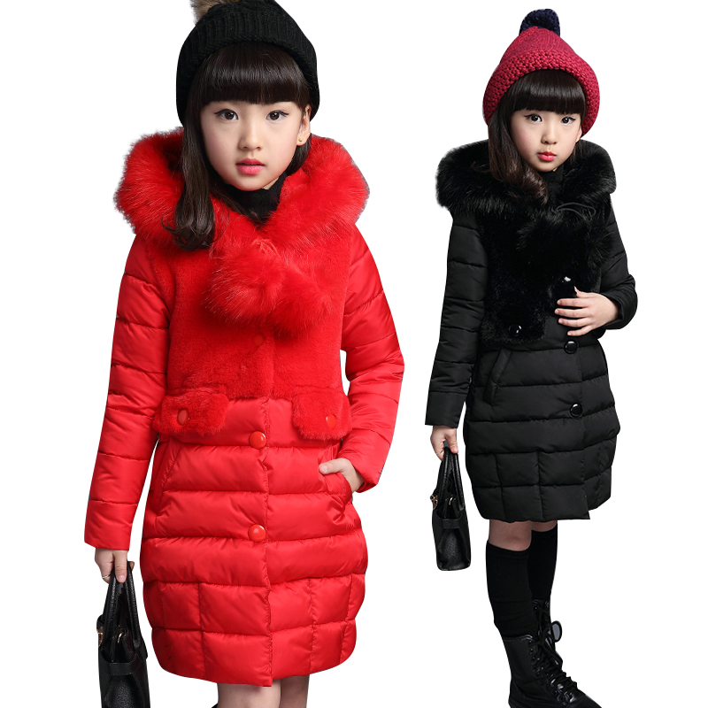Girls' Cotton Clothing 2018 Winter Clothing Thickened Medium and Long Cotton Clothes Children's Cotton Jacket 10 Cotton Coat in the winter of 2015 the new cotton jacket mixed male clothing winter cotton thickened 5 color free delivery